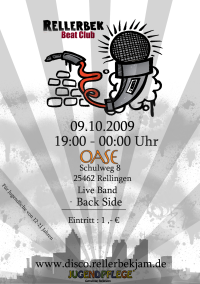 Rellerbek Beat Club Flyer mit Altersangabe